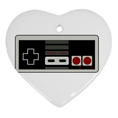 Video Game Controller 80s Heart Ornament (two Sides) by Valentinaart