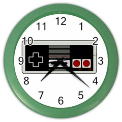 Video Game Controller 80s Color Wall Clocks by Valentinaart