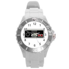 Video Game Controller 80s Round Plastic Sport Watch (l) by Valentinaart