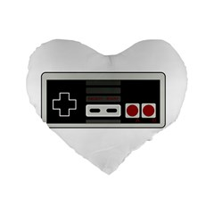 Video Game Controller 80s Standard 16  Premium Heart Shape Cushions by Valentinaart