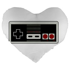 Video Game Controller 80s Large 19  Premium Heart Shape Cushions by Valentinaart