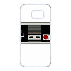 Video Game Controller 80s Samsung Galaxy S7 Edge White Seamless Case by Valentinaart