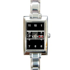 Video Game Controller 80s Rectangle Italian Charm Watch by Valentinaart