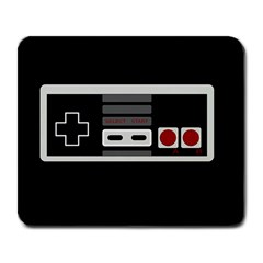 Video Game Controller 80s Large Mousepads by Valentinaart