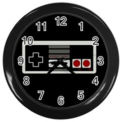 Video Game Controller 80s Wall Clocks (black) by Valentinaart