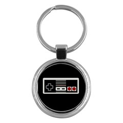 Video Game Controller 80s Key Chains (round)  by Valentinaart