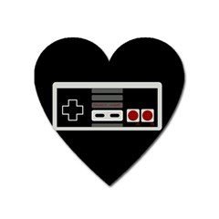 Video Game Controller 80s Heart Magnet by Valentinaart