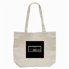 Video Game Controller 80s Tote Bag (cream) by Valentinaart