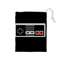 Video Game Controller 80s Drawstring Pouches (medium)  by Valentinaart