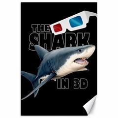 The Shark Movie Canvas 24  X 36  by Valentinaart