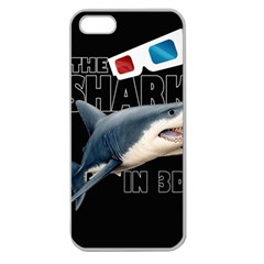 The Shark Movie Apple Seamless Iphone 5 Case (clear) by Valentinaart