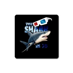 The Shark Movie Square Magnet by Valentinaart