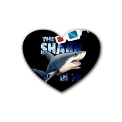 The Shark Movie Heart Coaster (4 Pack)  by Valentinaart