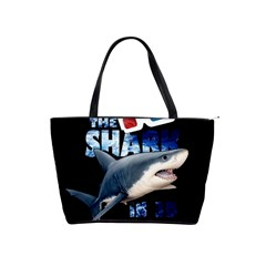 The Shark Movie Shoulder Handbags by Valentinaart