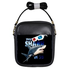 The Shark Movie Girls Sling Bags by Valentinaart