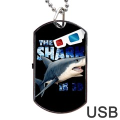 The Shark Movie Dog Tag Usb Flash (two Sides) by Valentinaart