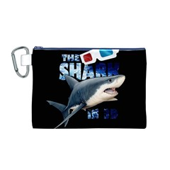 The Shark Movie Canvas Cosmetic Bag (m) by Valentinaart