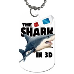 The Shark Movie Dog Tag (one Side) by Valentinaart