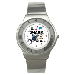 The Shark Movie Stainless Steel Watch by Valentinaart