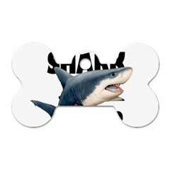 The Shark Movie Dog Tag Bone (two Sides) by Valentinaart