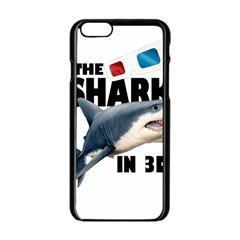 The Shark Movie Apple Iphone 6/6s Black Enamel Case by Valentinaart