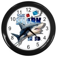The Shark Movie Wall Clocks (black) by Valentinaart