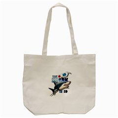 The Shark Movie Tote Bag (cream) by Valentinaart