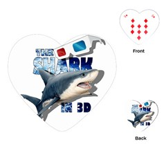 The Shark Movie Playing Cards (heart)  by Valentinaart