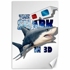 The Shark Movie Canvas 12  X 18   by Valentinaart