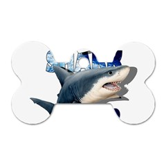 The Shark Movie Dog Tag Bone (one Side) by Valentinaart