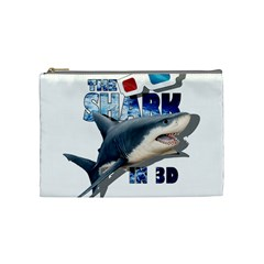 The Shark Movie Cosmetic Bag (medium)  by Valentinaart