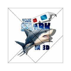 The Shark Movie Acrylic Tangram Puzzle (6  X 6 ) by Valentinaart