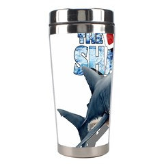 The Shark Movie Stainless Steel Travel Tumblers by Valentinaart