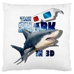 The Shark Movie Large Flano Cushion Case (two Sides) by Valentinaart