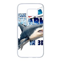 The Shark Movie Samsung Galaxy S7 Edge White Seamless Case by Valentinaart
