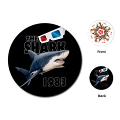 The Shark Movie Playing Cards (round)  by Valentinaart