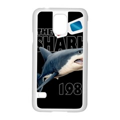 The Shark Movie Samsung Galaxy S5 Case (white) by Valentinaart