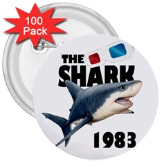 The Shark Movie 3  Buttons (100 Pack)  by Valentinaart