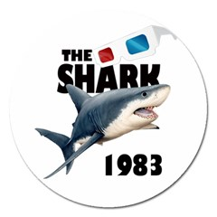 The Shark Movie Magnet 5  (round) by Valentinaart