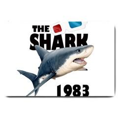 The Shark Movie Large Doormat  by Valentinaart
