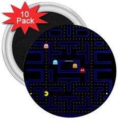 Pac Man 3  Magnets (10 Pack)  by Valentinaart