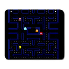 Pac Man Large Mousepads by Valentinaart