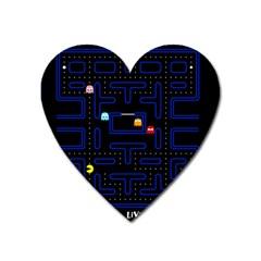 Pac Man Heart Magnet by Valentinaart