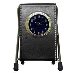 Pac Man Pen Holder Desk Clocks by Valentinaart