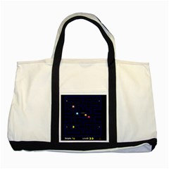 Pac Man Two Tone Tote Bag by Valentinaart