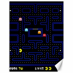 Pac Man Canvas 12  X 16   by Valentinaart