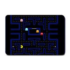 Pac Man Small Doormat  by Valentinaart