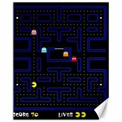 Pac Man Canvas 11  X 14   by Valentinaart