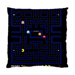 Pac Man Standard Cushion Case (two Sides) by Valentinaart