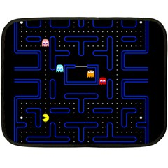 Pac Man Double Sided Fleece Blanket (mini)  by Valentinaart